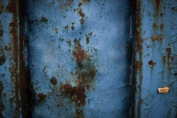 Blue Rusted Metal Texture