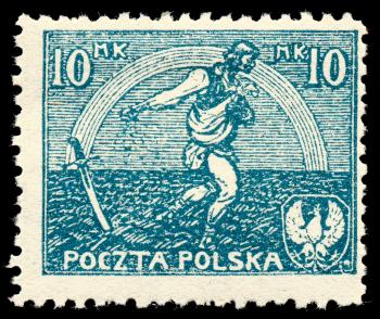 Blue Sower Stamp