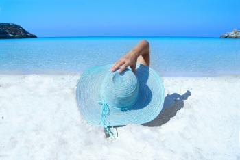 Blue Sun Hat