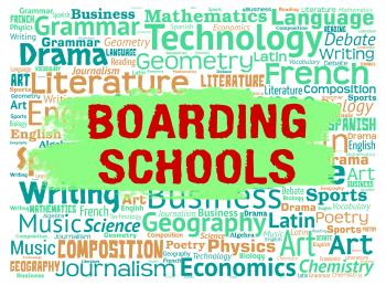 Boarding Schools Represents Studying Learning And Boarder