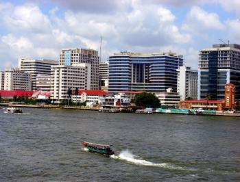 Boat on Chao Phraya River, Bangkok