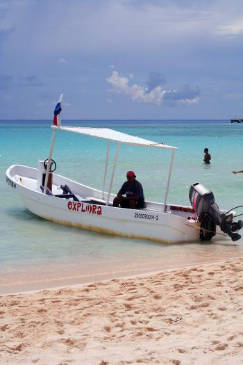 Boat on tropical shores