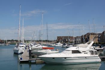 Boats at pier