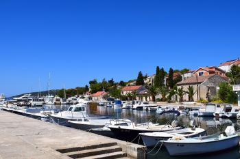 Boats in Molat Harbour, Croatia