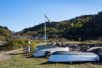 Boats up for winter in Loddebo