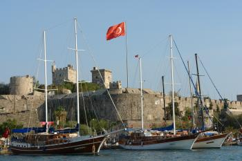 Bodrum castle and marina