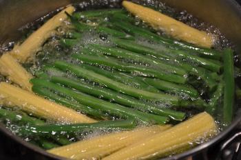 Boiling vegetables