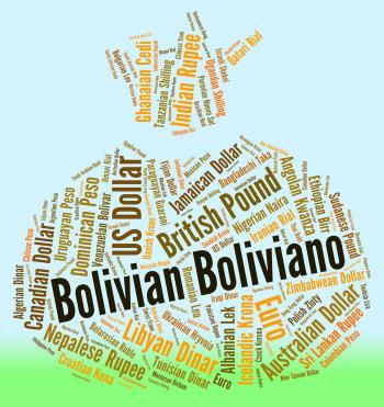 Bolivian Boliviano Indicates Forex Trading And Bob