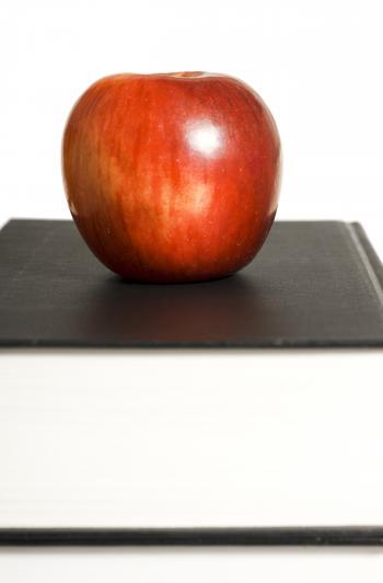book & apple