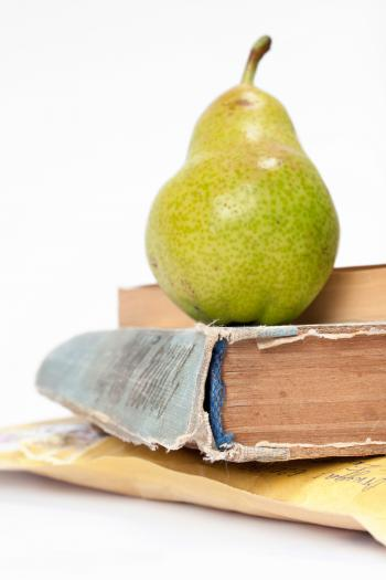 book and pears
