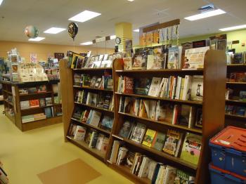 Bookstore shelves