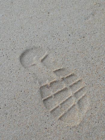 Bootprint in the Sand