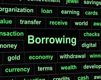 Borrow Debt Shows Arrears Finance And Liability