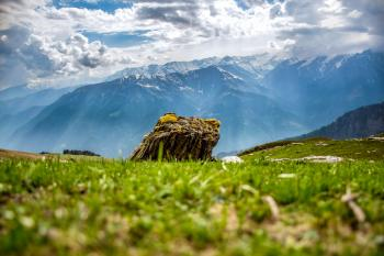 Boulder Behind Mountain