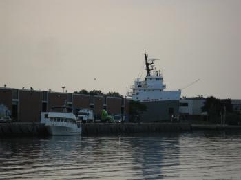 Bow of Lake Freighter Manitoba 2012 07 06 -a.jpg