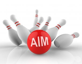 Bowling Aim Represents Aims Strike 3d Rendering