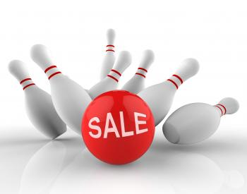 Bowling Sale Represents Ten Pin And Activity 3d Rendering