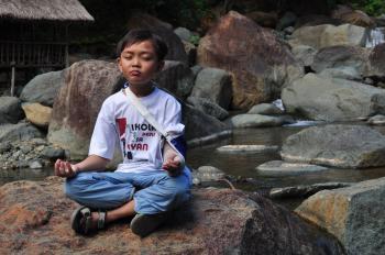 Boy in meditation