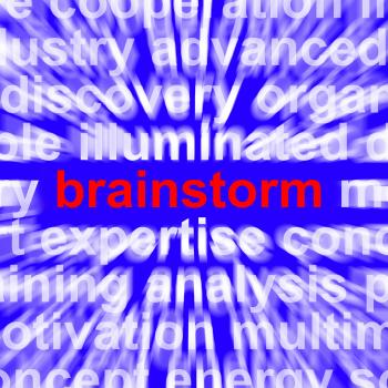 Brainstorming Word Meaning Creative Thinking And New Ideas