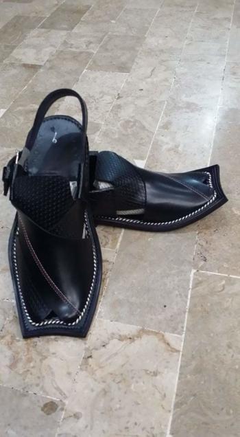 Brand New Black Leather Sandals