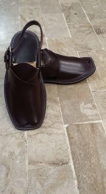 Brand New Dark Leather Sandals