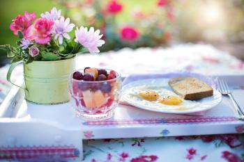 Breakfast and Flowers