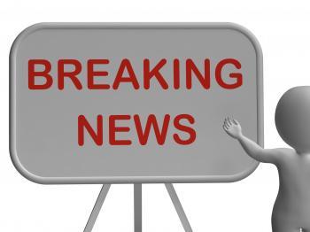 Breaking News Whiteboard Shows Major Developments And Bulletin