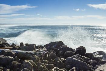 Breaking waves, Oregon Coast