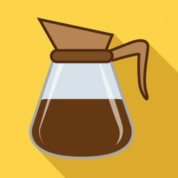 Brewed Coffee Icon Indicates Restaurant Roasted And Cafe