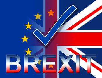 Brexit Tick Shows British Yes And Kingdom