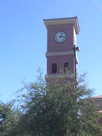 Brick clock tower