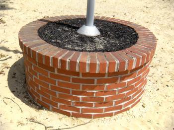 Brick Flag Pole Base