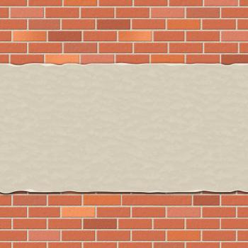 Brick Wall Represents Empty Space And Backdrop