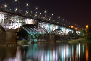 Bridge Near Body of Water during Night