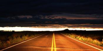 Bright and dark road