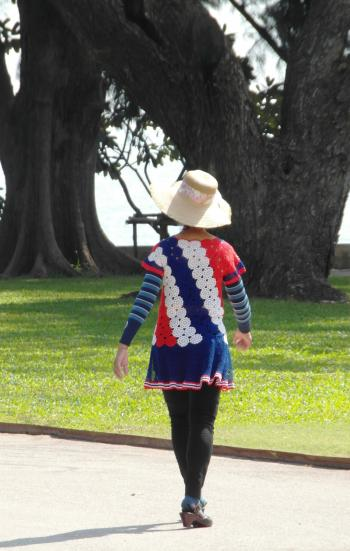 Bright Summer Fashion in the park