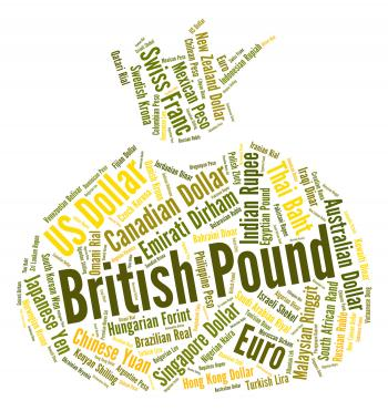 British Pound Shows Foreign Exchange And Currency