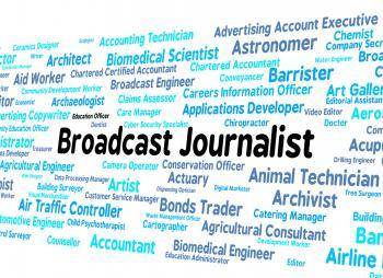 Broadcast Journalist Represents Lobby Correspondent And Broadcas