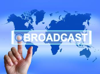 Broadcast Map Shows International Broadcasting and Transmission of New