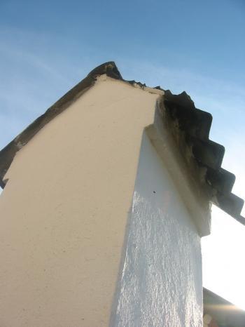 Broken roofing slate