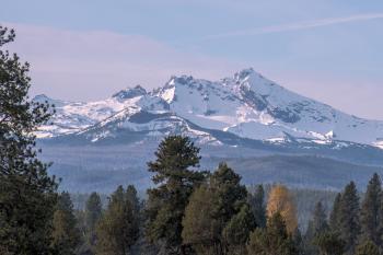 Broken Top Mountain, Oregon, Dawn Light