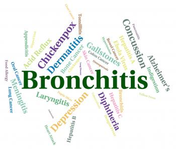 Bronchitis Word Shows Ill Health And Ailment