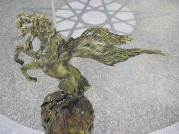 Bronze horse statue