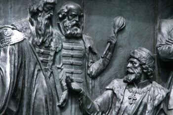 bronze monument close-up