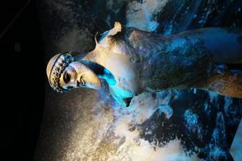 Bronze statue of a man (Poseidon?)
