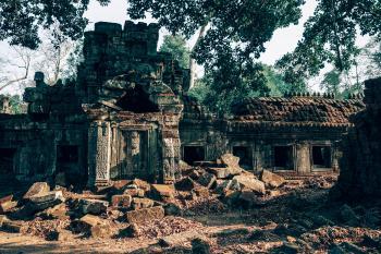 Brown Ancient Ruins