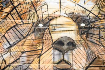 Brown and Black Animal Shape Artwork Painting