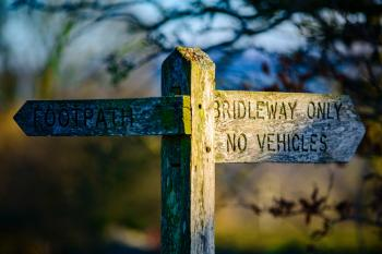 Brown Bridleway Only Wooden Signgage