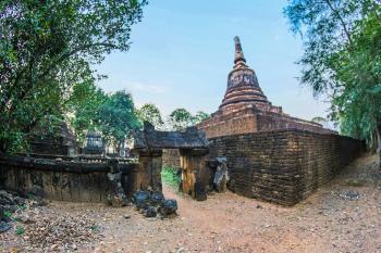 Brown Concrete Temple Under Blue Sky