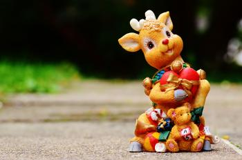 Brown Deer Figurine at Daytime